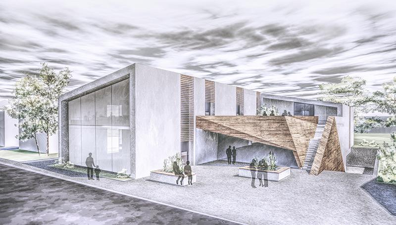 Außenperspektive des Entwurfs der Studierenden Nina Kuka