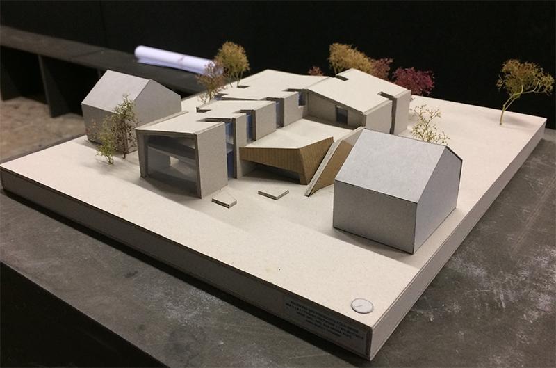 Modell des Entwurfs der Studierenden Nina Kuka