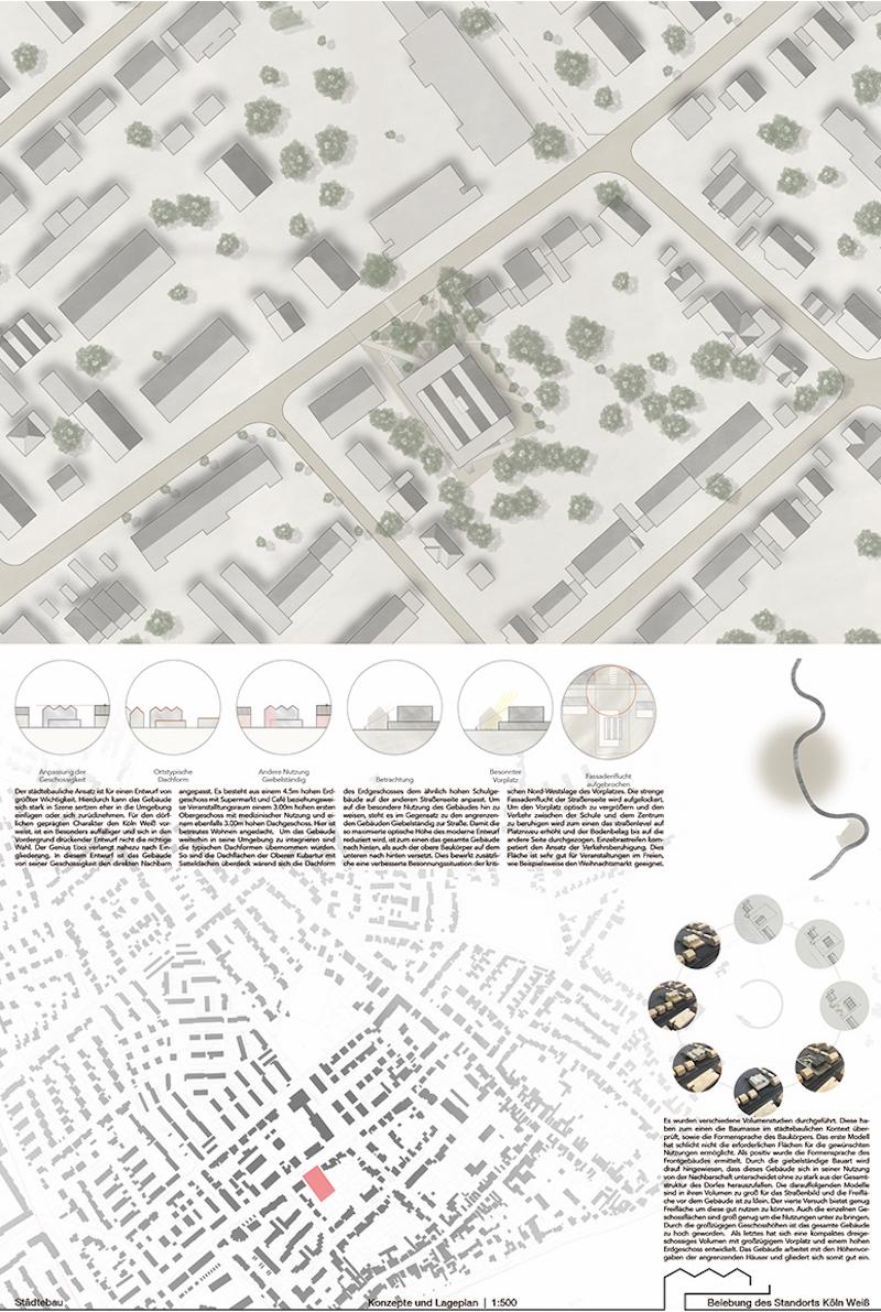 Entwurfspläne des Studierenden Bojan Cröpelin