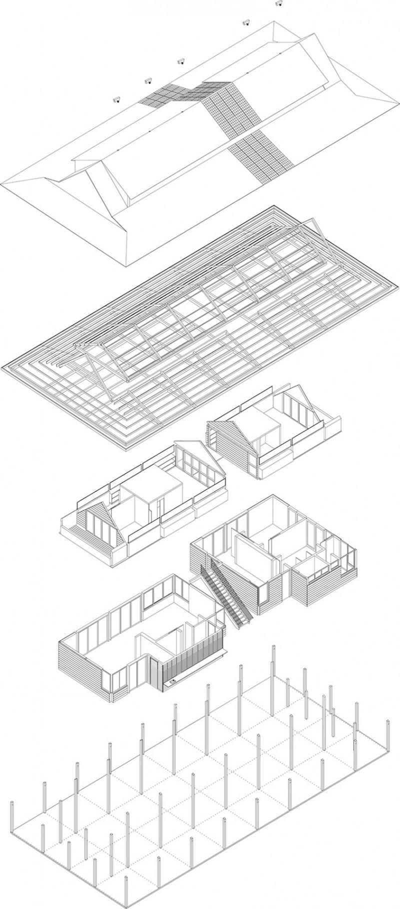Baldwin House - Axonometrie