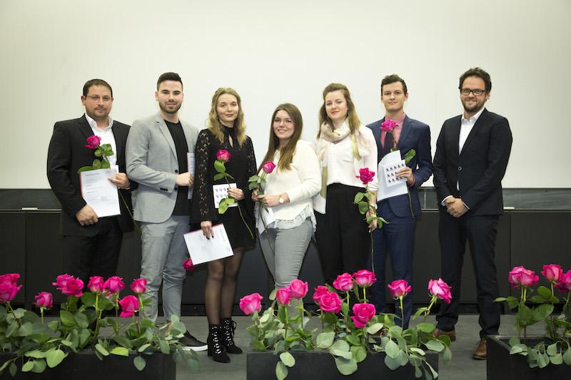 Bachelor-Absolventinnen und Absolventen Wintersemester 2018/19 betreut von Prof. Carola Wiese und Prof. Thorsten Burgmer